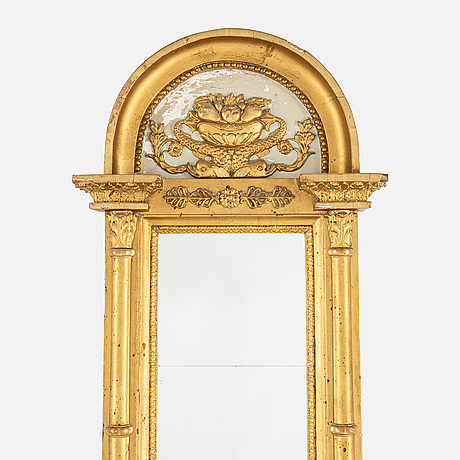 A lat gustavian mirror from around  the year 1800.