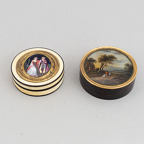 Two early 19th century boxes.