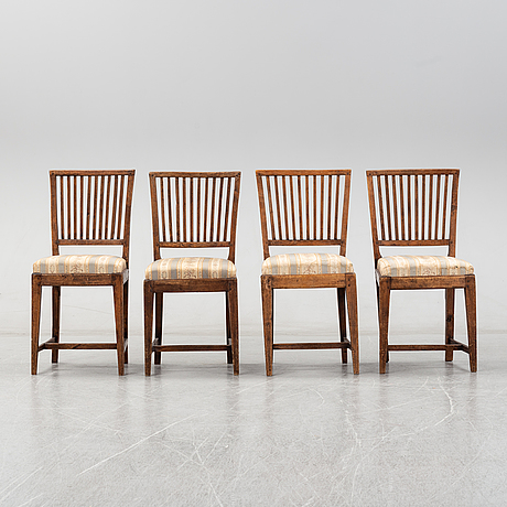 A set of four 19th-century chairs.