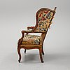 A louis xv armchair, probably france. 18th century.