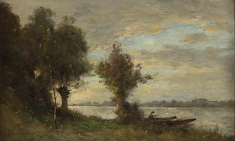 Paul désiré trouillebert, oil on canvas, signed.