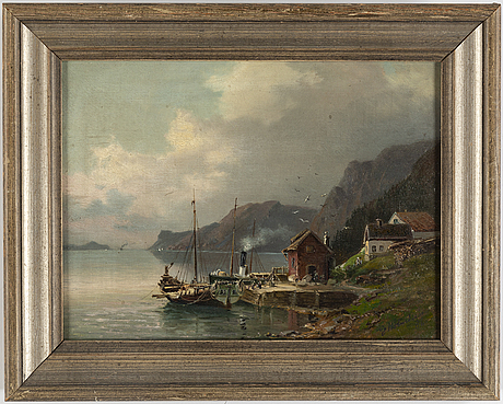 Josefina holmlund, oil on canvas, signed and dated -86.