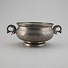 A pewter bowl, firma svenskt tenn.