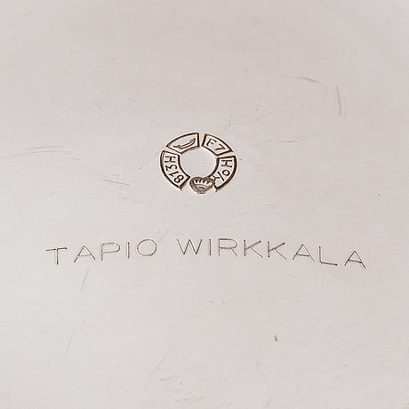 Tapio wirkkala, a pair of silver candlesticks, hopeatehdas oy, helsinki 1959.