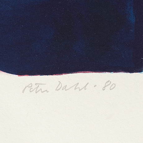 Peter dahl, lithograph in colours, 1980, signed 233/250.