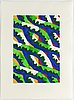 Lennart rodhe, silkscreen in colours, 1976, signed 62/75.