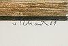 Philip von schantz, färglitografi, 1984, signerad pt.