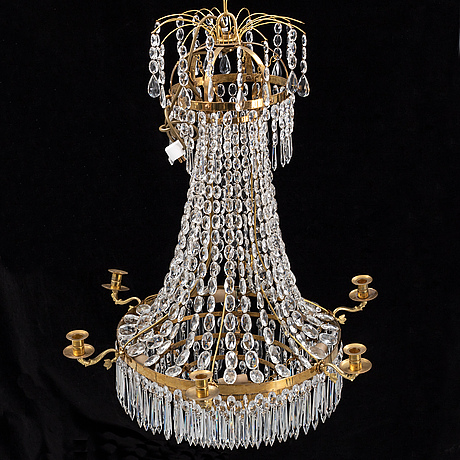 A 20th century empire-style chandelier.