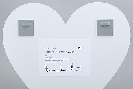 Damien hirst  giclée tryck på aluminium, signerad numrerad och daterad 2499/3510 2020.