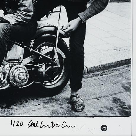 Carl johan de geer, photograph, signed 1/20.
