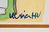 Ulrica hydman-vallien, watercolour, signed.