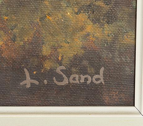 Lennart sand, oil on canvas, signed.