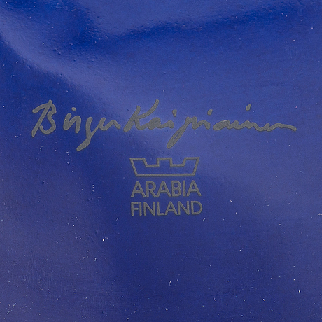 Birger kaipiainen, decoration plate, 'florence'-series, signed birger kaipiainen, arabia finland.