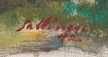 Tyko sallinen, oil on canvas, signed and dated-42.