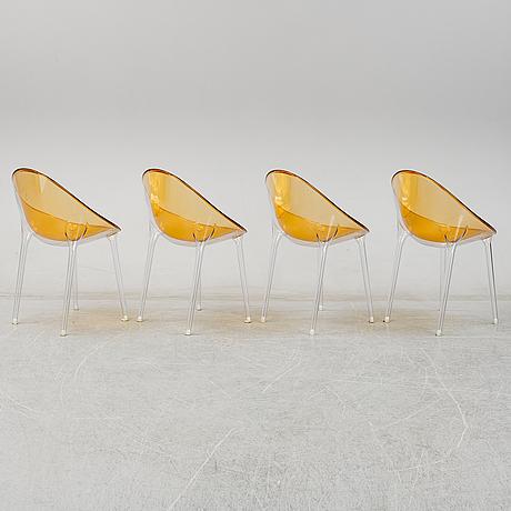 "Philippe starck, stolar 4 st, ""mr impossible"" kartell."