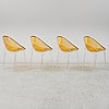 Philippe starck, a set of 4 'mr impossible' chairs for kartell.