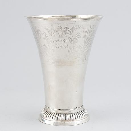 Anders engelfelt, silver cup, kalmar, 1817.