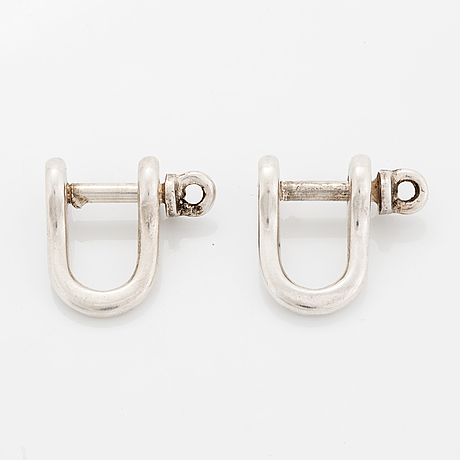 Ole lynggaard, a pair of sterling silver cufflinks.