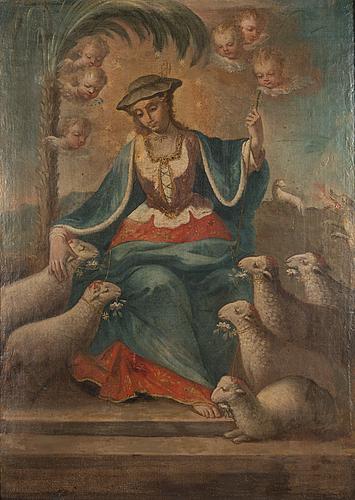 Tuntematon taiteilija, 1700-luku, öljy kankaalle.