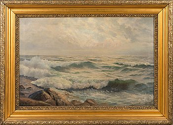Unknown artist, oil on canvas, signed and dated.