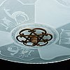 An art deco ceiling light. first half of the 20th century.
