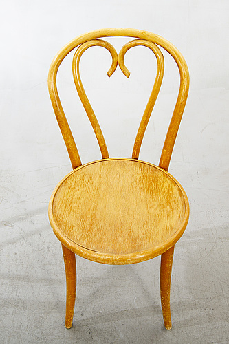 A set of six birch chairs 20th century second half.