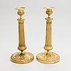 A pair of candlesticks, first half of 19th century.