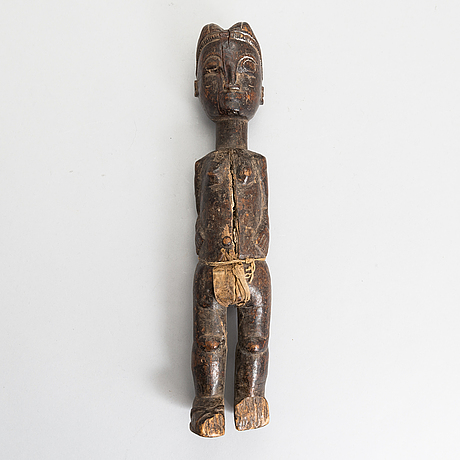Sculpture, baule africa, second half of the 20th century.
