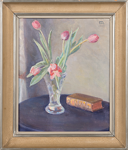 Emil edvard danielsson, oil on canvas, signed and dated 1943.