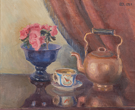 Emil edvard danielsson, oil on canvas, signed and dated 1939.
