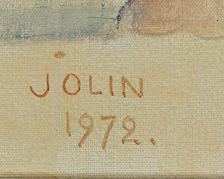 Einar jolin, signed and dated 1972.