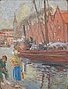 Armid sandberg, oil on board, signed and dated 1909.