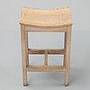 Five oak stools by jonas lindvall, 1990's.