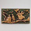 A chinese wooden wall relief, 20th century.