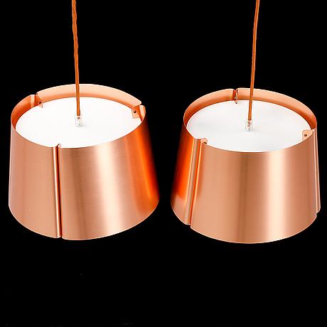 "Jonas lindvall, two   ""w124"" pendant lamps."