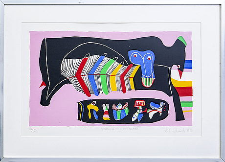Lis zwick, lithograph in colours signed and numbered 113/150 and dated 1980.