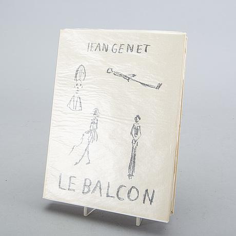 """Bok, jean genet, """"le balcon"""" med omslag originallitografi av alberto giacometti."""