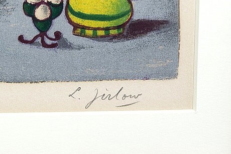 Lennart jirlow, lithograph in colours signed and numbered 254/310.