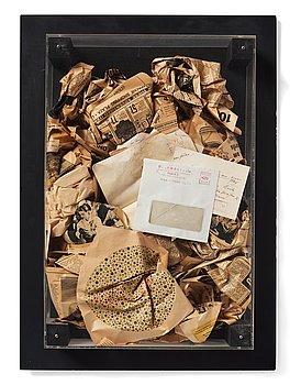 """741. Arman (Armand Pierre Fernandez), """"Papier Poubelles / Wastepaper Basket"""" from Édition MAT 64."""