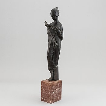 Jan Hána, after. Sculpture. Signed. Bronze. Height 54.5 cm (including base).