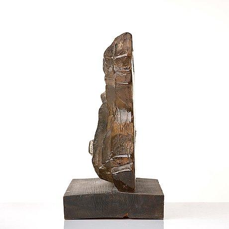 Edvin öhrström, skulptur, lindshammars glasbruk 1960-tal, ed. 2/5.
