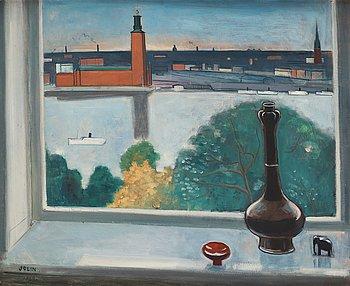 """643. Einar Jolin, """"Fönsterutsikt, Stockholm""""."""