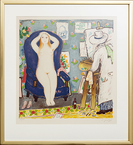 Lennart jirlow,  lithogaph in colours signed and numbered 224/310.
