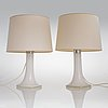 Lisa johansson-pape, a pair of 1960s table lamps, model '46-017'  for stockmann orno, finland.