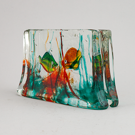 A glass sculpture from murano, italy.