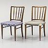 """A set of four """"o.k"""" chairs, nordiska kompaniet, sweden 1938."""