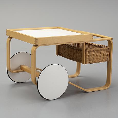Alvar aalto, a birch drinks trolley model 900, artek, finland.