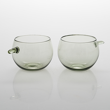 Tapio wirkkala, a set of 12 '2025' drinking glasses for iittlal. produced 1963-1966.