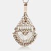 A silver necklace/brooch. ossian hopea, porvoo 1977.