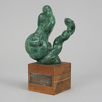 Carl Milles, sculpture. Signed. Foundry mark. No 3/12. Bronze, height 22 cm (incl base).